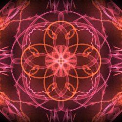 Mandala portant les énergies féminines et créatrices de la Lémurie